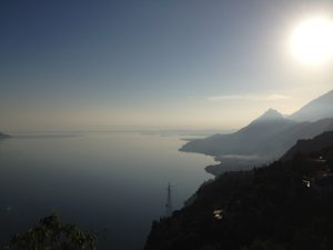 Panorama da Muslone lago di garda